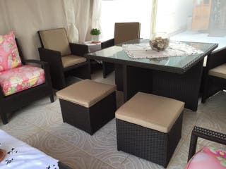 Cube table and chairs