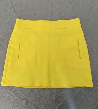 Mini falda Zara Woman amarilla T-L
