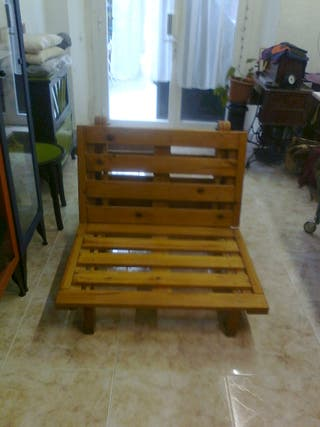 Sillon-cama plegable madera