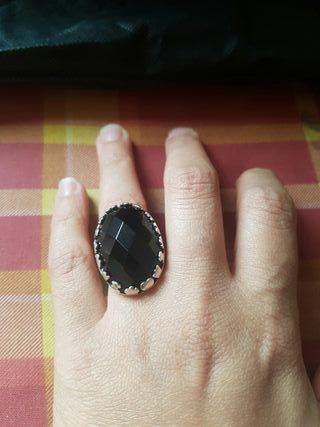 anillo Tous piedra negra