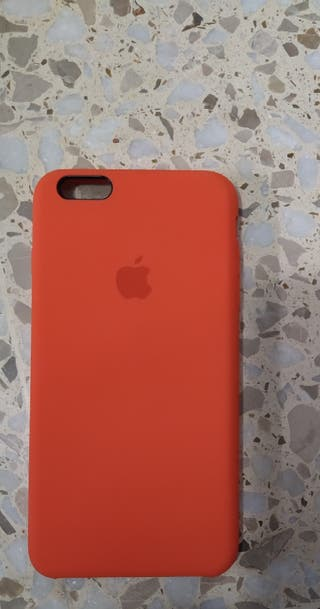 funda de silicona naranja IPhone 6s plus/ 6 plus
