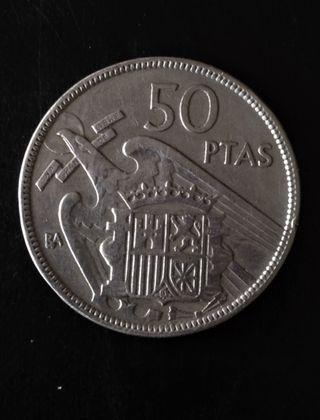 Moneda de 50 Pesetas 1957 Serie BA