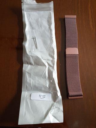 Milanesa acero rosa amazfit pace 22 mm