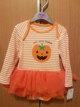 vestido body Halloween bebé