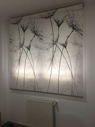 Estor decorativo gris / ventana