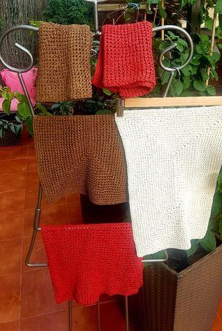 LOTE 5 manteles individuales crochet