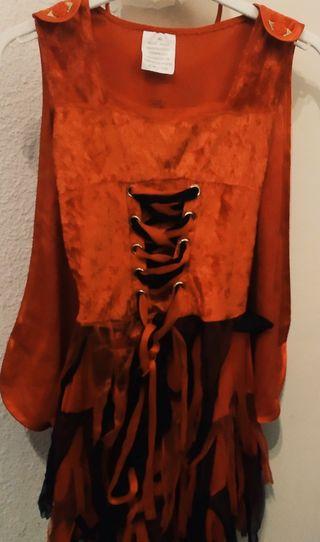 Halloween-vestido de diablilla niña