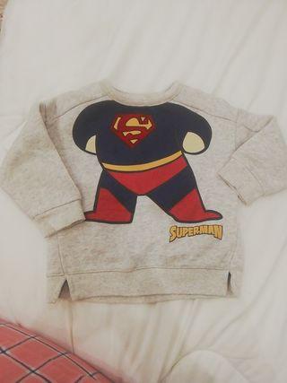 sudadera Superman Zara 6-9 meses
