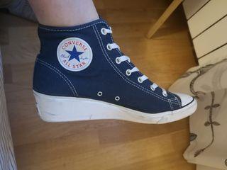 Converse All Star azules con cuña
