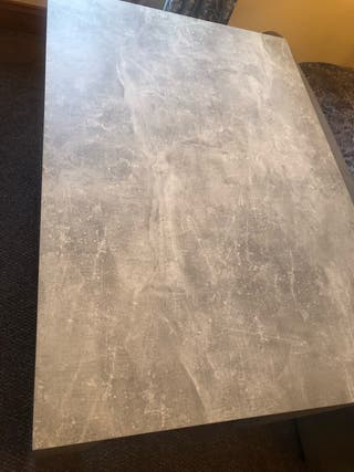 Kitchen table marbled effect
