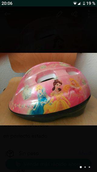 Casco bicicleta princesas