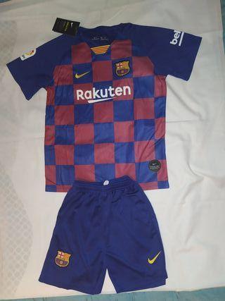 Camiseta y pantalón FC Barcelona para niños