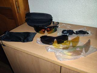 Gafas ciclismo unisex con 4 cristales y accesorios