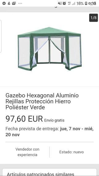 GAZEBO, PERGOLA CENADOR OCTOGONAL