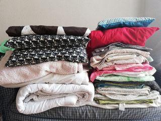 Pack ropa de cama,cojines,almohada,nórdico,mantas
