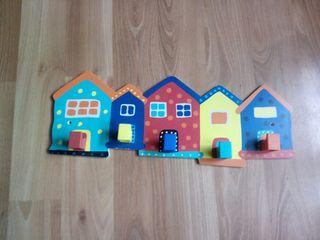 Perchero infantil de casitas Ikea