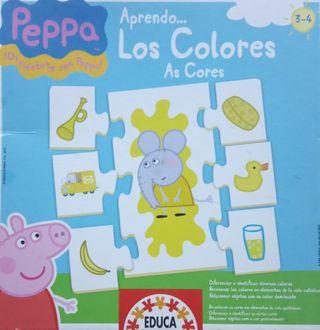 """Puzzle Peppa pig """"Aprendo los colores"""""""
