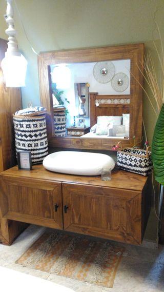 Mueble baño rústico Mejicano