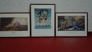 3 Láminas de Dalí