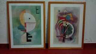 2 láminas de Kandinsky