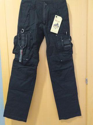 pantalones militares negroos