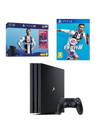 Playstation 4 Pro 1TB, Fifa 19, Dualshock red V2