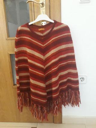 Poncho 100% lana