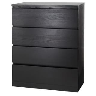 Chest of 4 drawers MALM black-brown