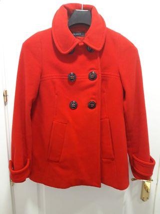 Abrigo rojo de paño Talla M