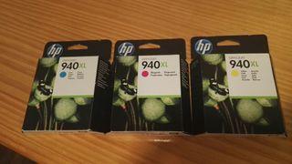 HP 940XL. Cartuchos de tinta color