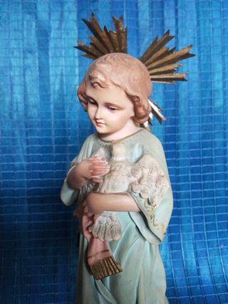 Antigua imagen de Olot - Niño Jesús con Paloma