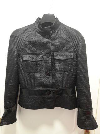chaqueta negra de diseño Talla 40