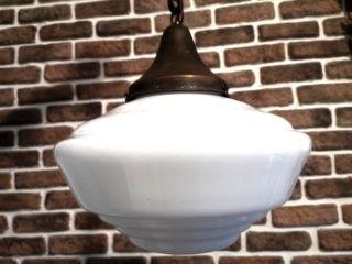 Lámparas de opalina y cobre