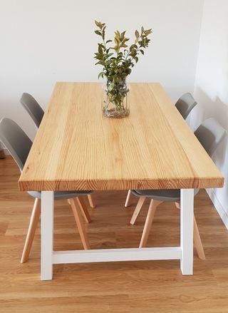 mesa y sillas comedor estilo nórdico