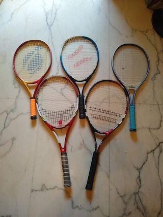 raquetas de tenis Junior cadete