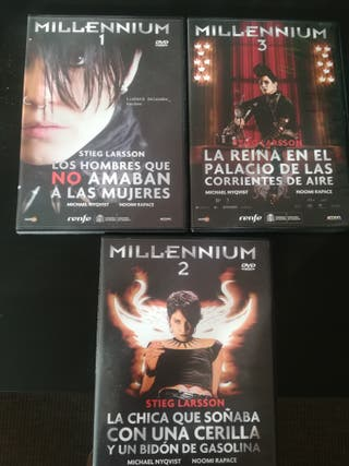 Pack películas de la saga millenium