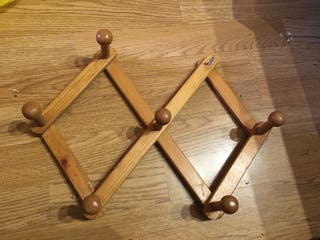 Perchero extensible madera