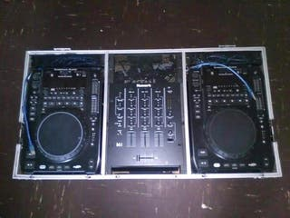 2x America audio cd deck and nurmark mixer