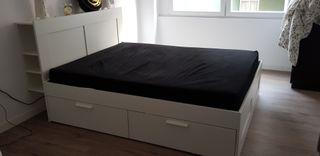 Cama BRIMNES 160x200 + colchón MORGEDAL