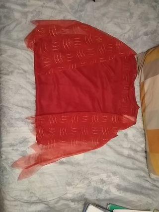 vestido rojo Halloween