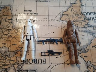 Vintage Snowtrooper and chewie original complete