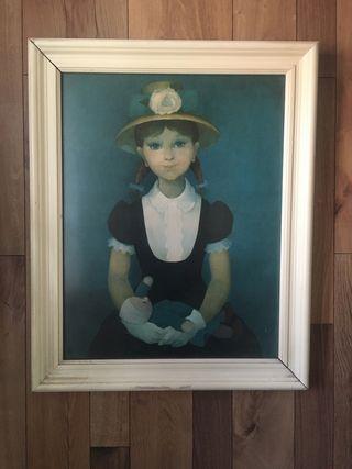 Cuadro retrato niña
