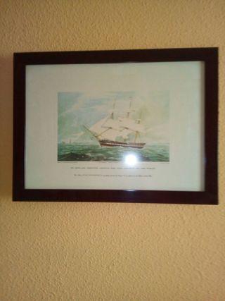 Vendo litografía de barco histórico ingles