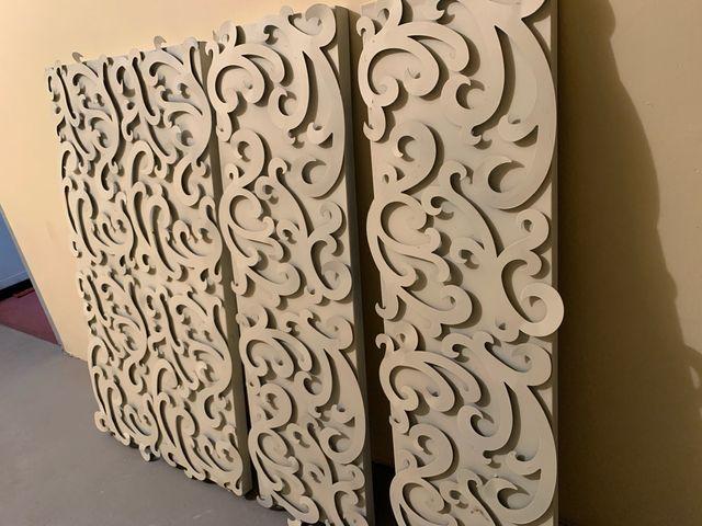 Panel decorativo metálico 3 piezas