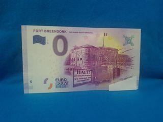 Euro souvenir 0 euros Breendonk Bélgica