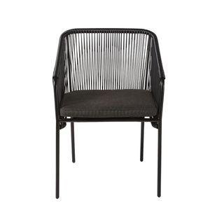 sillón jardín negro