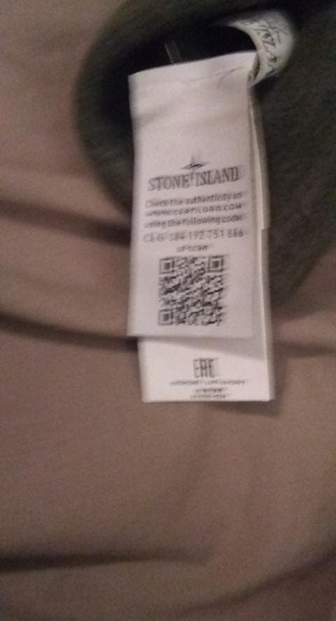 Stone Island Wool Knit Beanie Hat Olive Green