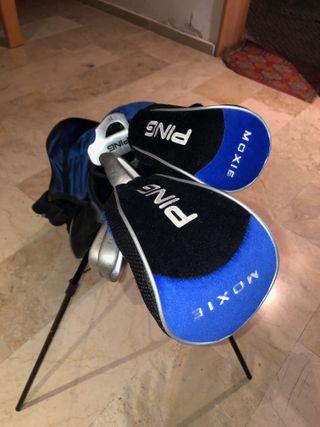 Juego de palos de golf 15-16 años PING con bolsa