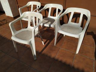 sillas de terraza de plástico