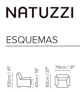 Sillón de piel Natuzzi